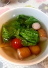 簡単シンプル、レタススープ(コンソメ味)