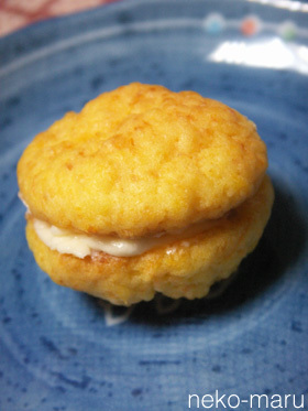 やわらかにんじんクッキー♪メープルサンド