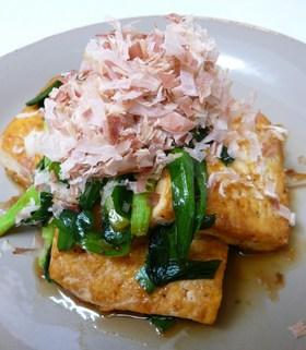 ニラと豆腐で♪ピリ辛炒め