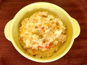 離乳食後期 鱈と野菜のクリーミー卵雑炊