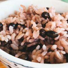 黒千石大豆ご飯