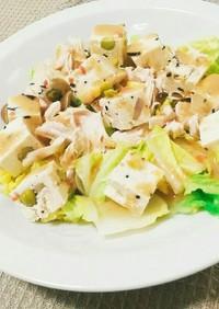 レンチンあったか♡白菜&豆腐の冬サラダ