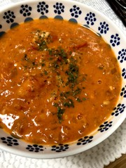 エビのムニエルハウス風*食べるスープの写真