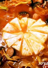 カマンベールなトマト鍋 キャンプで人気