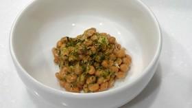 朝食に☆青海苔アマニ油納豆