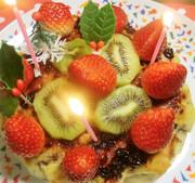 HMで混ぜて焼く★バナナクリスマスケーキの写真