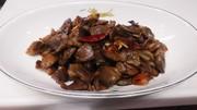 砂肝の大蒜醤油炒め(下茹でで柔らかく)の写真