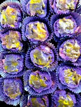 紫イモとリンゴのスイートポテト
