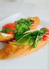 魚焼きグリルでモッツァレラチーズパニーニ