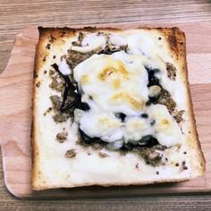 さば昆布チーズトースト