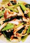 めんつゆで!小松菜と玉ねぎのツナ卵炒め