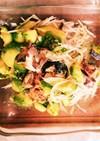 サバ水煮缶とアボカド大根ヘルシーサラダ