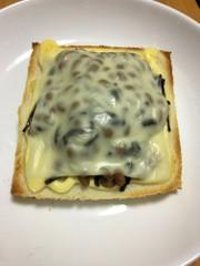 フジッコ煮×納豆トーストの写真