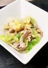 豚肉とレタスのマヨたま炒め