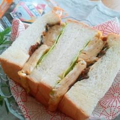 生姜こんぶの厚焼き玉子サンド
