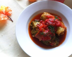 ロールキャベツトマト煮♪