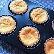 マフィン型で!小さなベイクドチーズケーキ