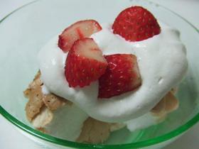 簡単!卵白でサクサクふわふわケーキ