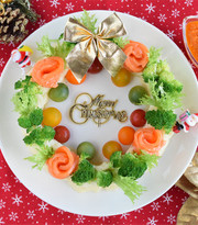 サーモンとポテトのリース風サラダの写真