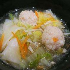 簡単 鶏団子のお鍋スープ