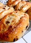 レーズンとナッツのシュガーバターパン