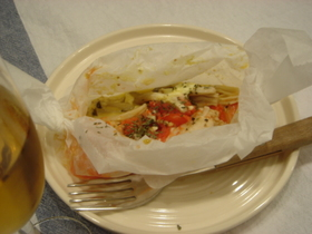 鶏とシメジのイタリアン包み