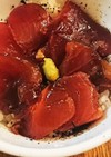 マグロの黒蜜漬け丼