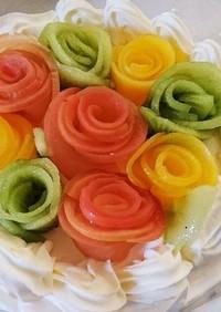 デコレーションケーキ ショートケーキ 花