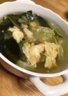 ササッと簡単調理☆レタスと卵のスープ