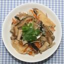 乾燥野菜と乾燥きのこサンマ干物で五目御飯