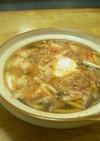 一人鍋で、さんまキムチ鍋