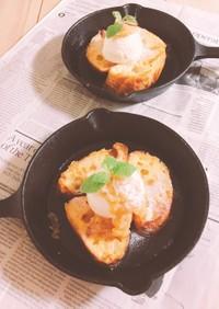 ⁑スキレットでフレンチトースト⁑