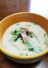 ☆白菜とベーコンの豆乳味噌スープ☆