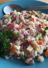 残り野菜で作るビーガンチリ炒飯