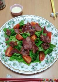 牛タン塩のサラダ