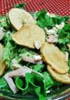 グリーンリーフとじゃが芋のオイルサラダ♪