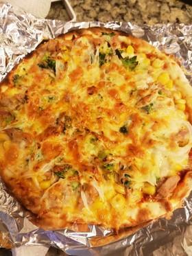 嫁ごはん。簡単!増し増し市販ピザ