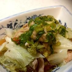 ☆白菜と豚肉のネギだれ☆フライパン蒸し