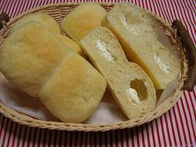 クリームチーズ入りミニミニ食パン