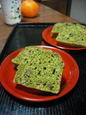 ノンオイル抹茶と小豆のヘルシー豆腐ケーキ