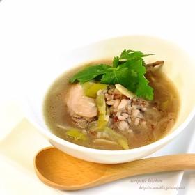 炊飯器de簡単♡ほっこり♡雑穀米の参鶏湯