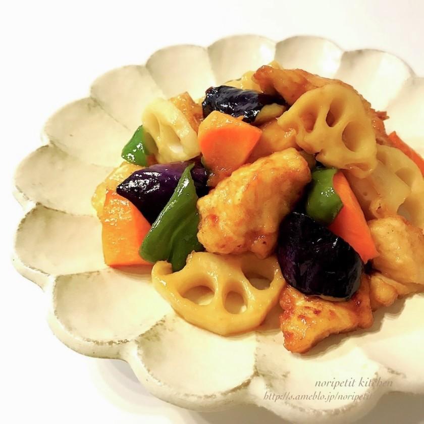 定食屋さん風♡鶏と野菜の黒酢あん