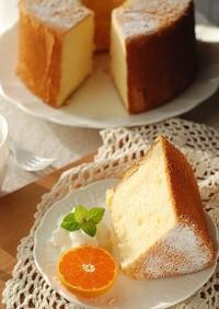 はちみつ香る♡ふわふわ柚子シフォンケーキ