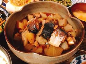 10分メイン料理☆鯖缶とこんにゃくの煮物