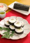 サラダチキンときゅうりの梅肉巻き寿司