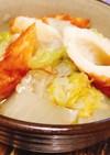 簡単副菜♡白菜とちくわの白だし煮