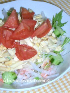 大根と水菜のサラダ♪ゆでたまごソース