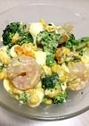 ブロッコリーとエビの卵サラダ