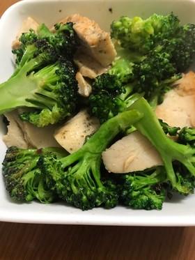 市販の鳥肉サラダチキンとブロッコリー炒め