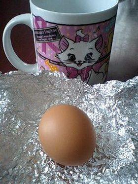 電子レンジでゆで卵!